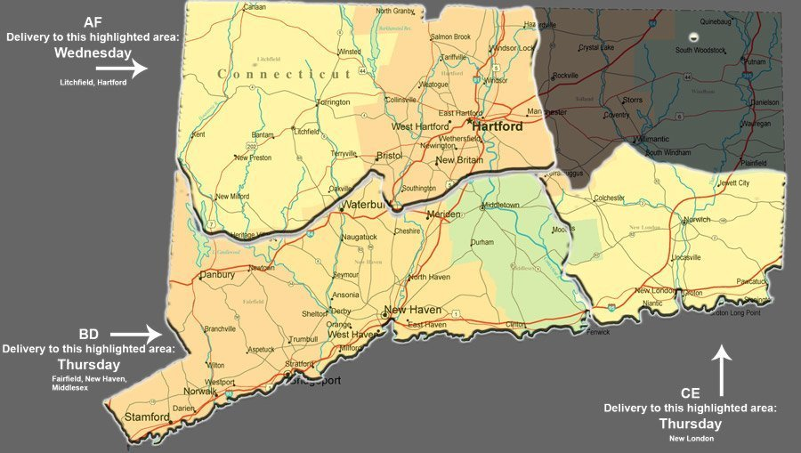 connecticut-road-map